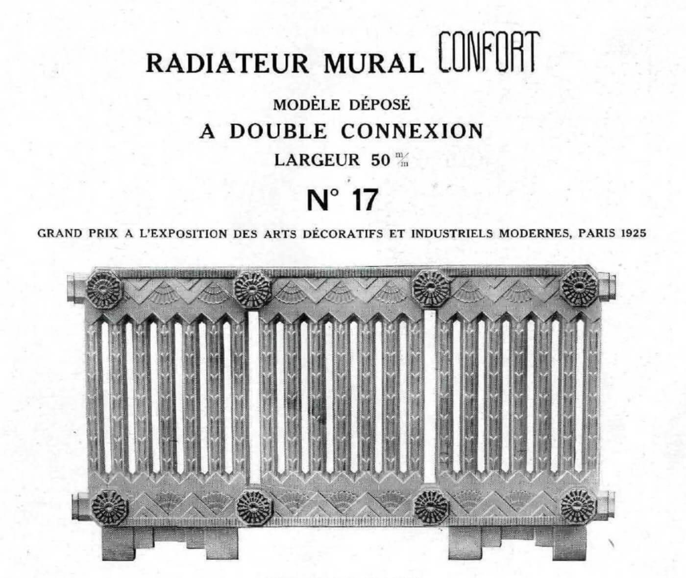 radiateur mural confort brousseval r f ref 120. Black Bedroom Furniture Sets. Home Design Ideas