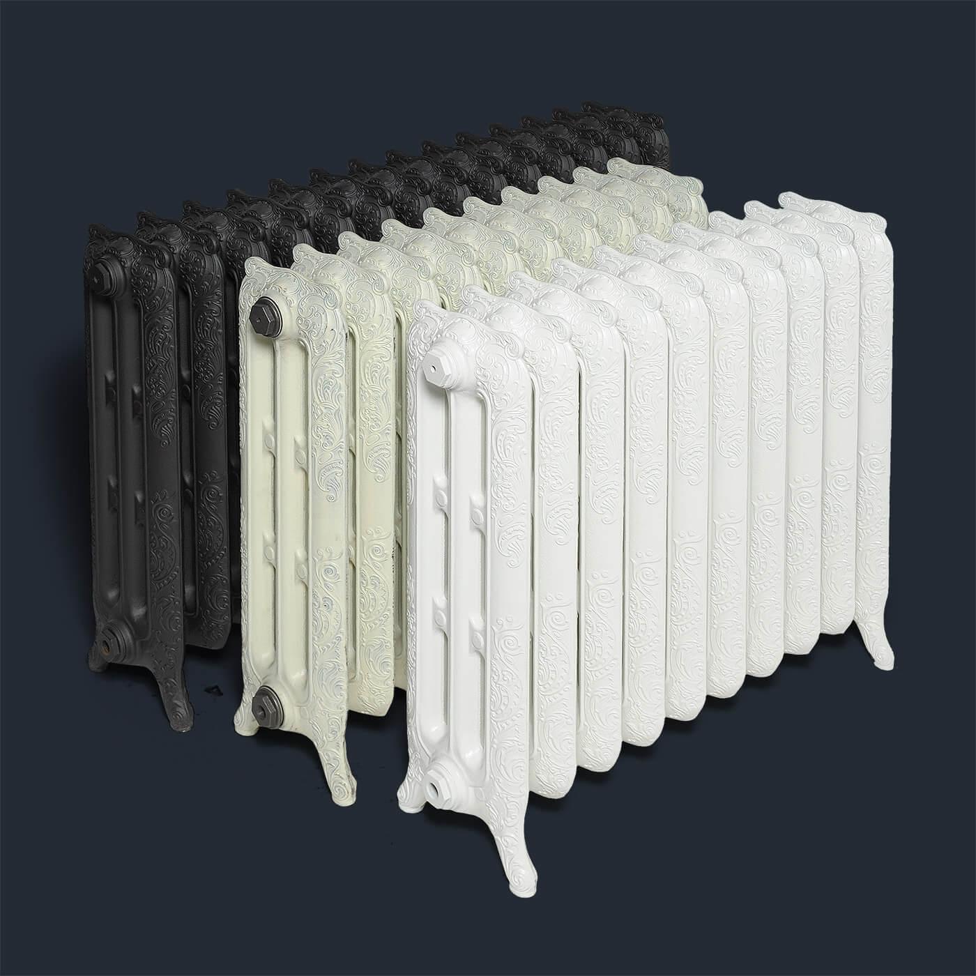radiateur en fonte rococo fleuri en r dition tarifs. Black Bedroom Furniture Sets. Home Design Ideas
